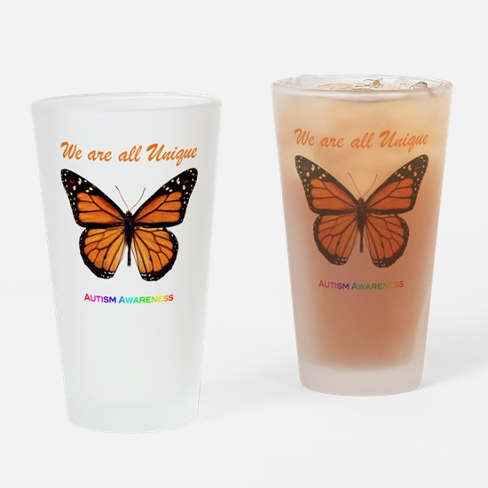 Butterfly: Autism Awareness Drinking Glass