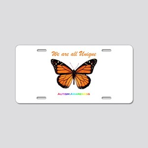 Butterfly: Autism Awareness Aluminum License Plate