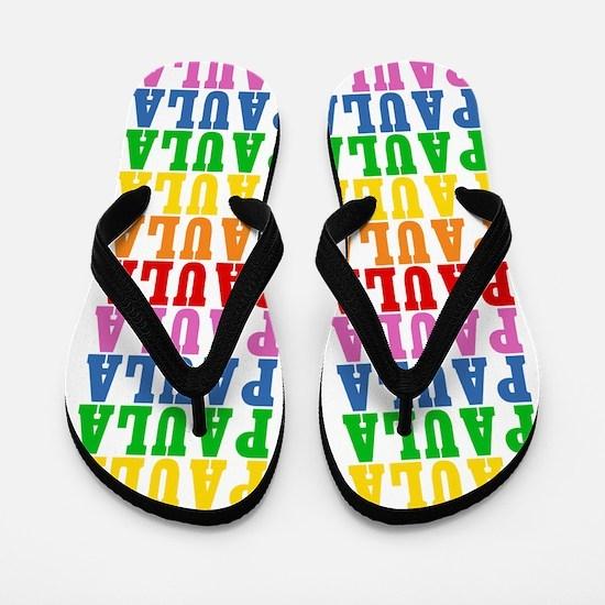 Cute Rainbow Flip Flops