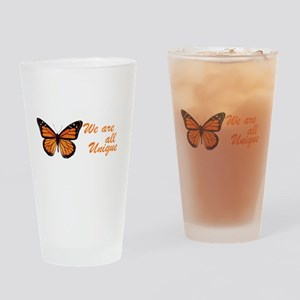 Butterfly: Side Inscription Drinking Glass