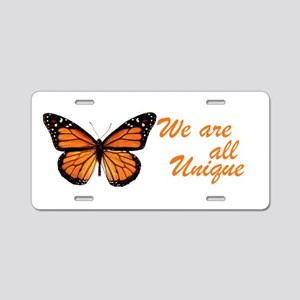 Butterfly: Side Inscription Aluminum License Plate