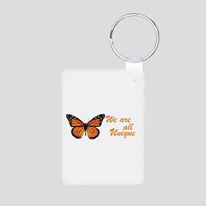 Butterfly: Side Inscription Aluminum Photo Keychai