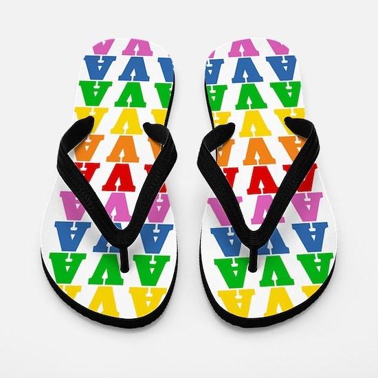 Cool Rainbow Flip Flops