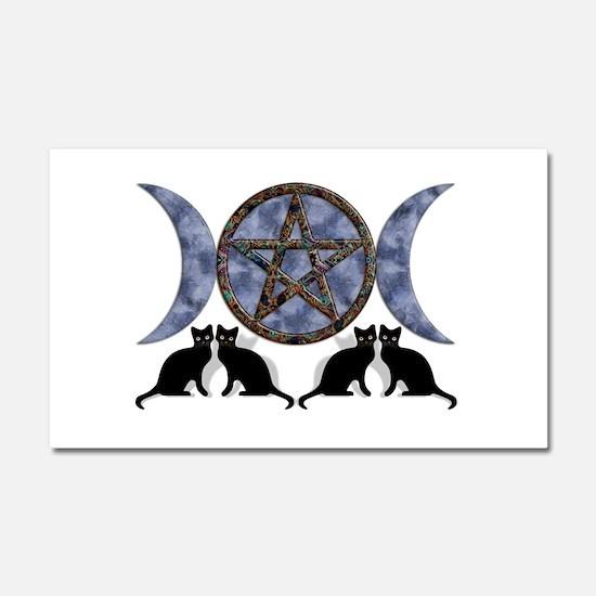 Mystic Blue Pentagram Car Magnet 20 x 12