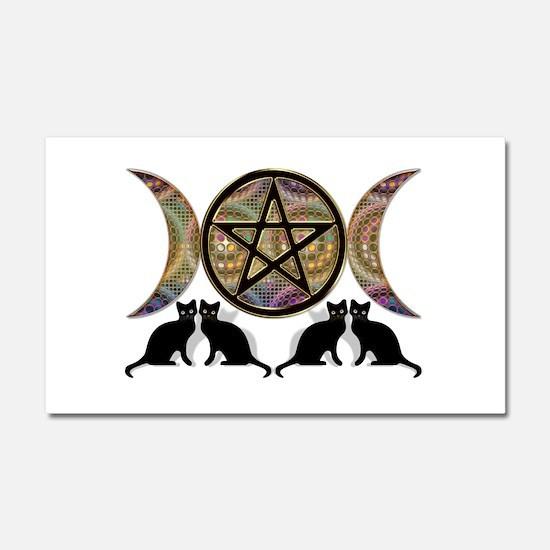 Crystal Ball Pentagram Car Magnet 20 x 12