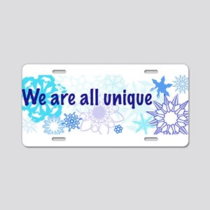 Snowflakes Collage Aluminum License Plate