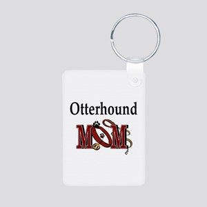 Otterhound Gifts Aluminum Photo Keychain