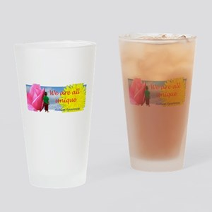 We Are All Unique Drinking Glass