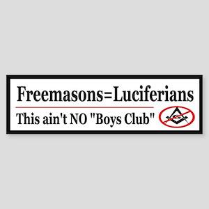 Luciferian Freemasons - Sticker