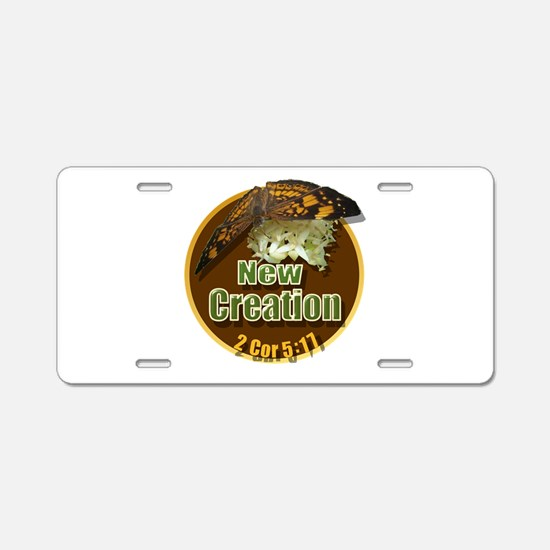 New Creations Aluminum License Plate