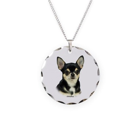 Chihuahua 9W092D-057 Necklace Circle Charm