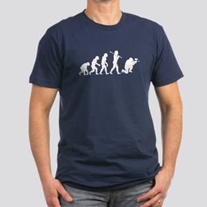 Evolved into a Paintballer Men's Fitted T-Shirt (d