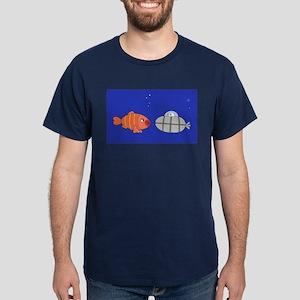 Submarine and Fish Dark T-Shirt