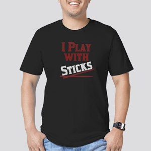 I Play With Sticks Men's Fitted T-Shirt (dark)