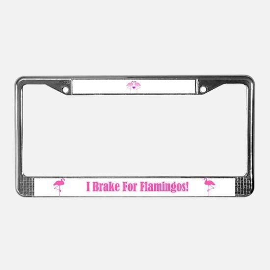 Flamingo Love License Plate Frame