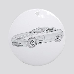 Mercedes Benz McLaren -colore Ornament (Round)
