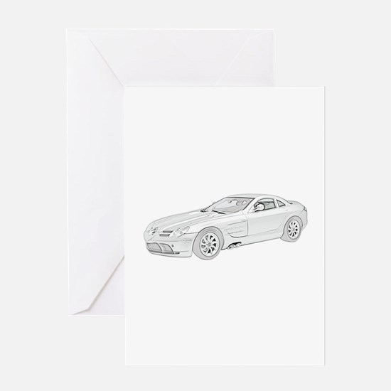 Mercedes Benz McLaren -colore Greeting Card