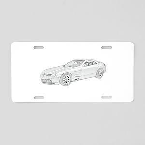 Mercedes Benz McLaren -colore Aluminum License Pla