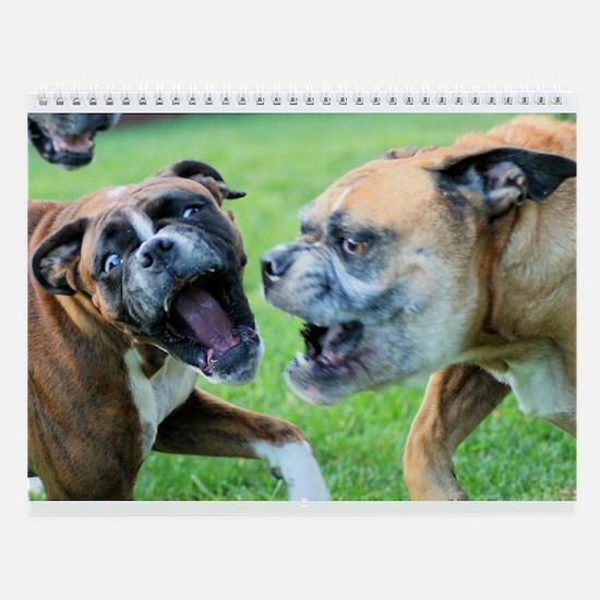 Boxers At Play Wall Calendar