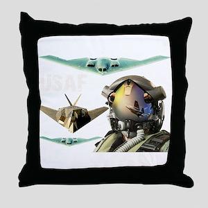 USAF B-2 F-117 F-35 Throw Pillow