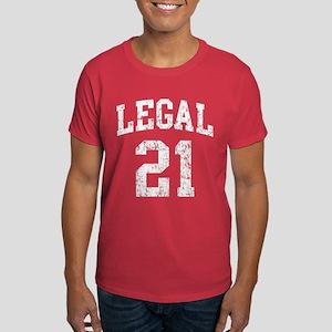 Legal 21 Birthday Dark T-Shirt
