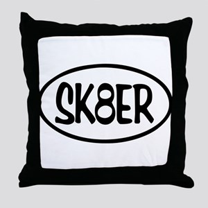 SK8ER Oval Throw Pillow