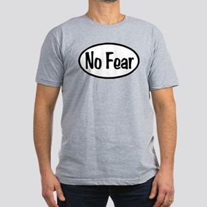 No Fear Oval Men's Fitted T-Shirt (dark)