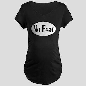 No Fear Oval Maternity Dark T-Shirt