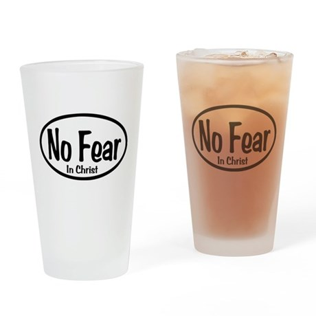 No Fear in Christ Oval Drinking Glass