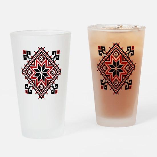 Folk Design 7 Drinking Glass