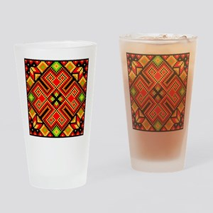 Folk Art 4 Drinking Glass