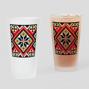 Folk Design 1 Drinking Glass