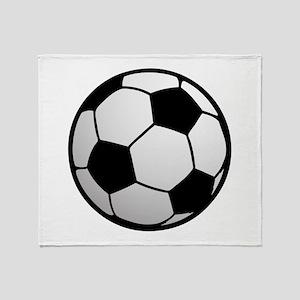 Fun Soccer Ball Throw Blanket
