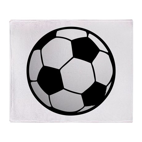 Fun Soccer Ball Throw Blanket