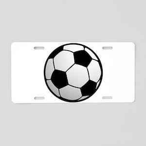Fun Soccer Ball Aluminum License Plate
