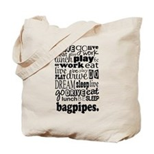 Bagpipes Music Gift Tote Bag