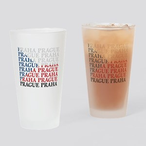 Prague Flag Drinking Glass