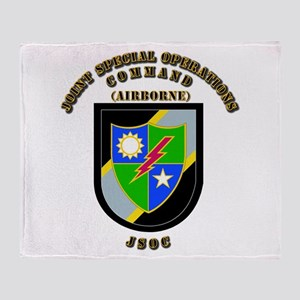 SOF - JSOC - Flash - Ranger Throw Blanket