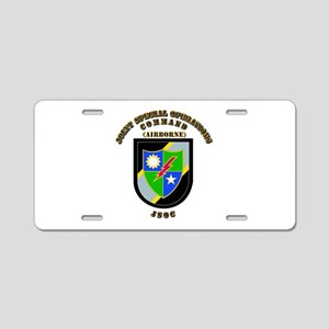 SOF - JSOC - Flash - Ranger Aluminum License Plate
