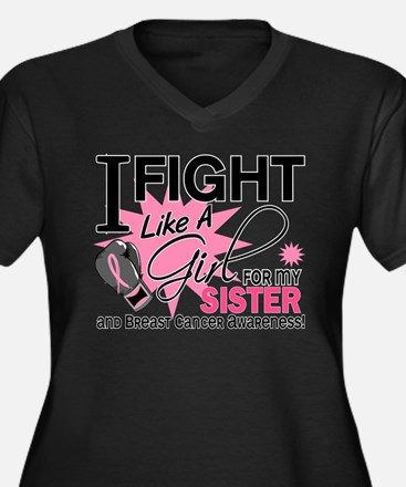 Fight Like A Girl Breast Cancer Women's Plus Size