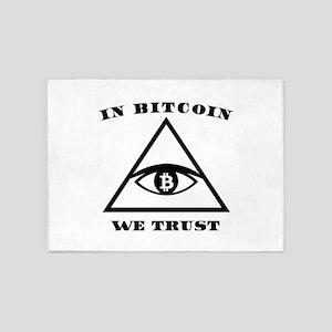 In Bitcoin We Trust Crypto Alt Curr 5'x7'Area Rug