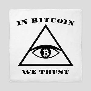 In Bitcoin We Trust Crypto Alt Currenc Queen Duvet