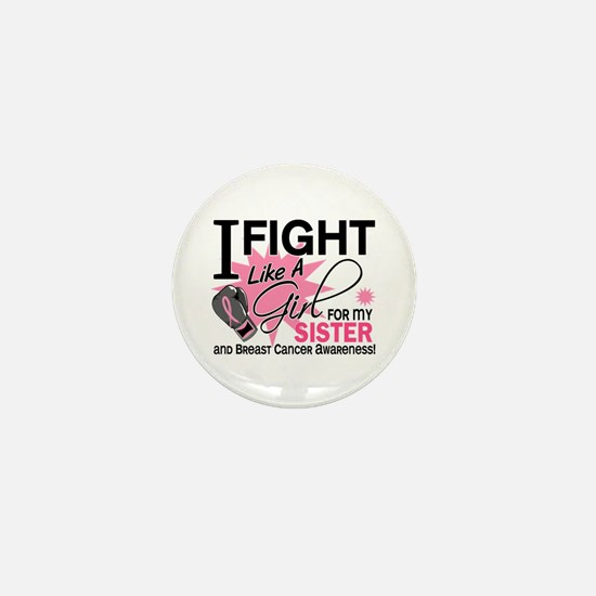 Fight Like A Girl Breast Cancer Mini Button