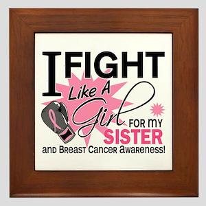 Fight Like A Girl Breast Cancer Framed Tile