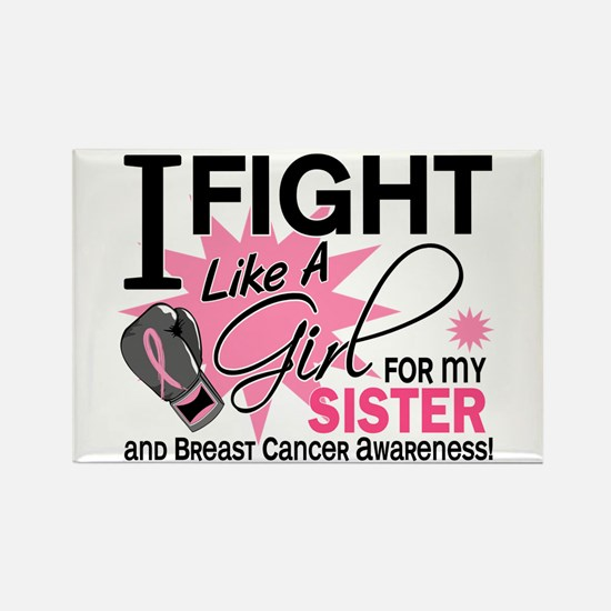 Fight Like A Girl Breast Cancer Rectangle Magnet (