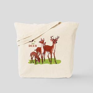 'D' is for Deer Tote Bag
