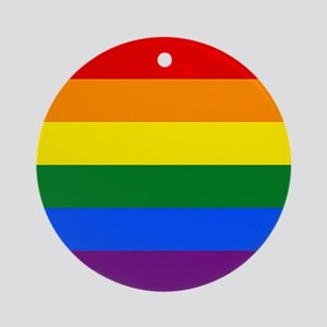 Gay Pride Ornament (Round)