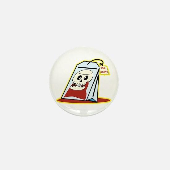 Tea Party Terrorist Tea Bag Mini Button