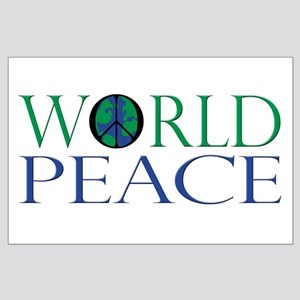 Global Peace Sign Large Poster
