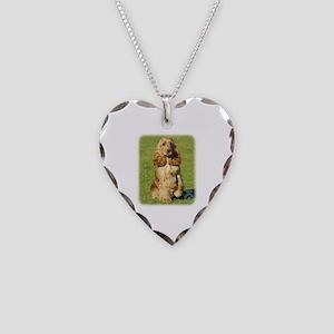 Cocker Spaniel 9P055D-057 Necklace Heart Charm